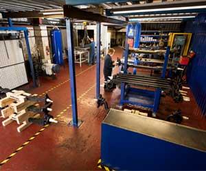 The workshop floor