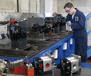 Man making test rigs