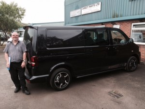 Phil Patten - Sales Director- with his New Van